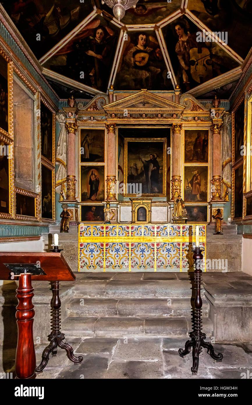 Corpo Santo Cappella interno Funchal Madeira Portogallo Immagini Stock