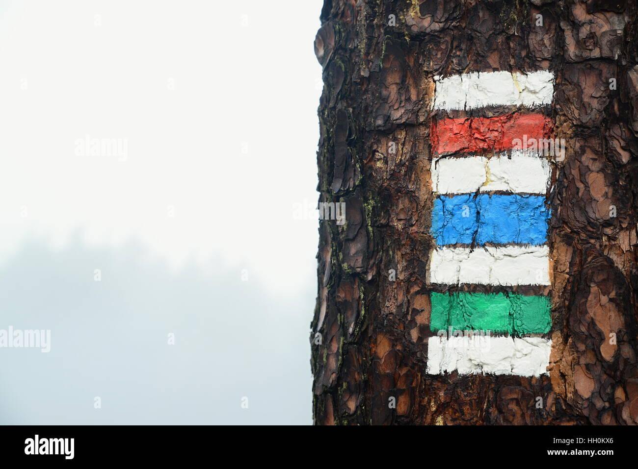 Marchio turistico nella Repubblica ceca nella Repubblica ceca eden Immagini Stock