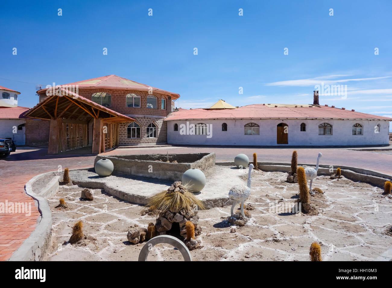 Cristal sale di Samana Hotel vicino a Uyuni Saline Immagini Stock