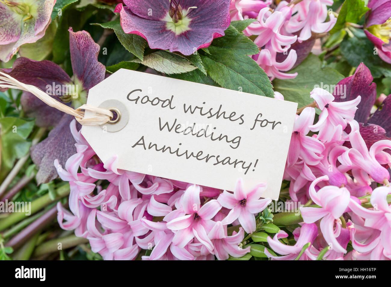Anniversario Matrimonio In Inglese.Inglese Biglietto Di Auguri Con Giacinti Per Il Nostro