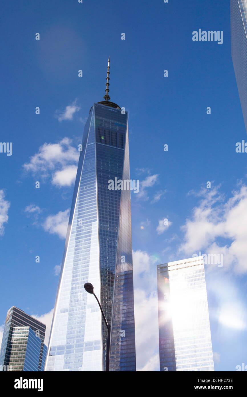 One World Trade Center (freedom tower), la parte inferiore di Manhattan, New York City, Stati Uniti d'America. Immagini Stock