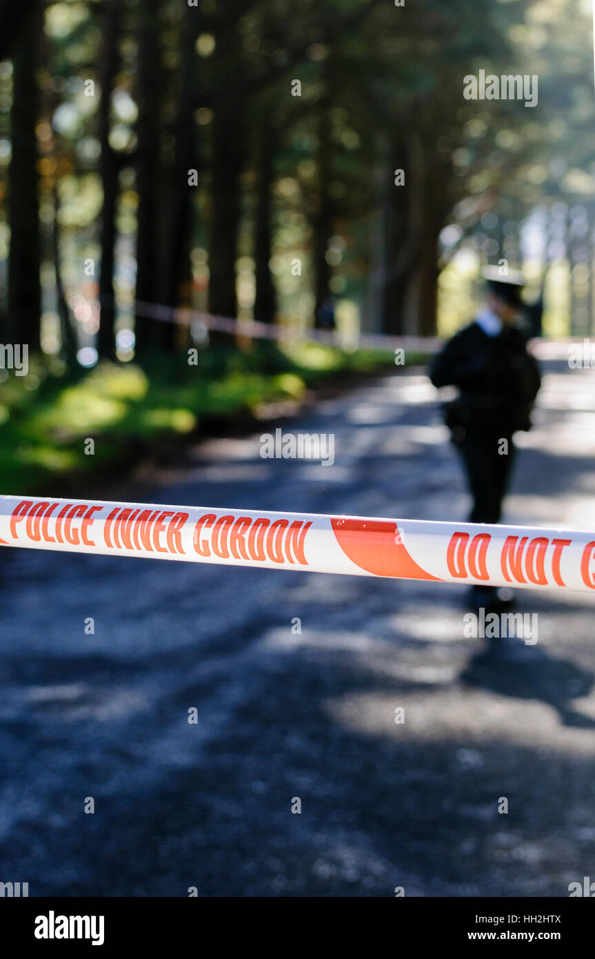 La polizia interna del nastro Cordon Immagini Stock