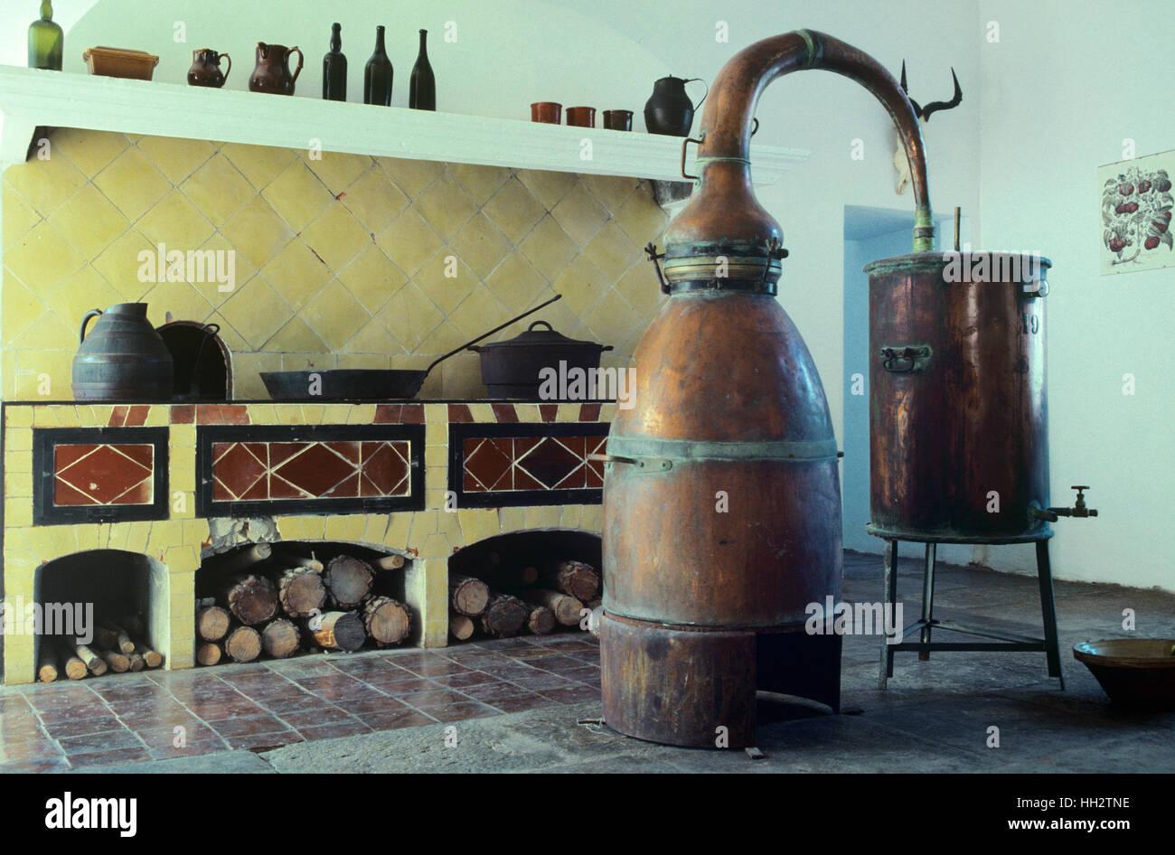 Tradizionale cucina provenzale con lavanda ancora Castello di ...