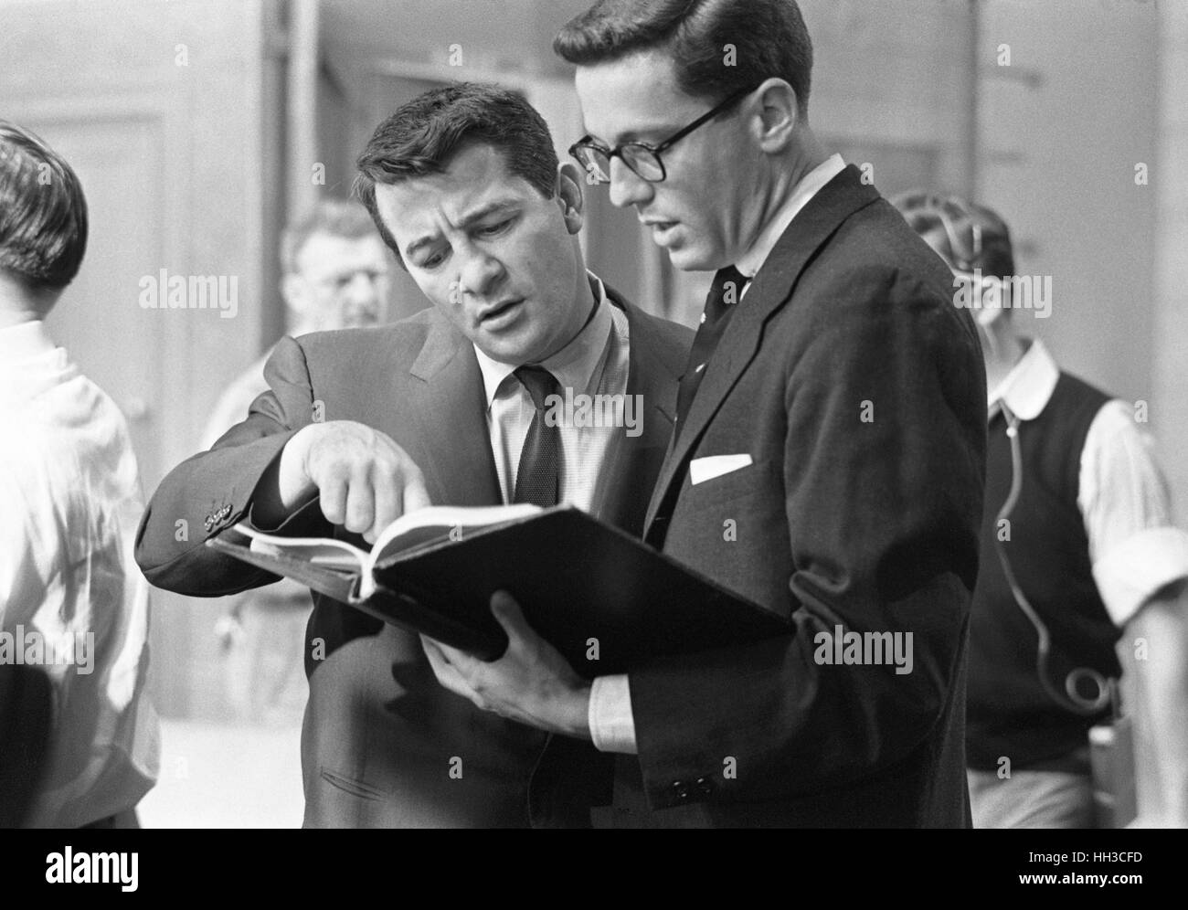 Rocky Graziano con Thomas B. Morgan Immagini Stock