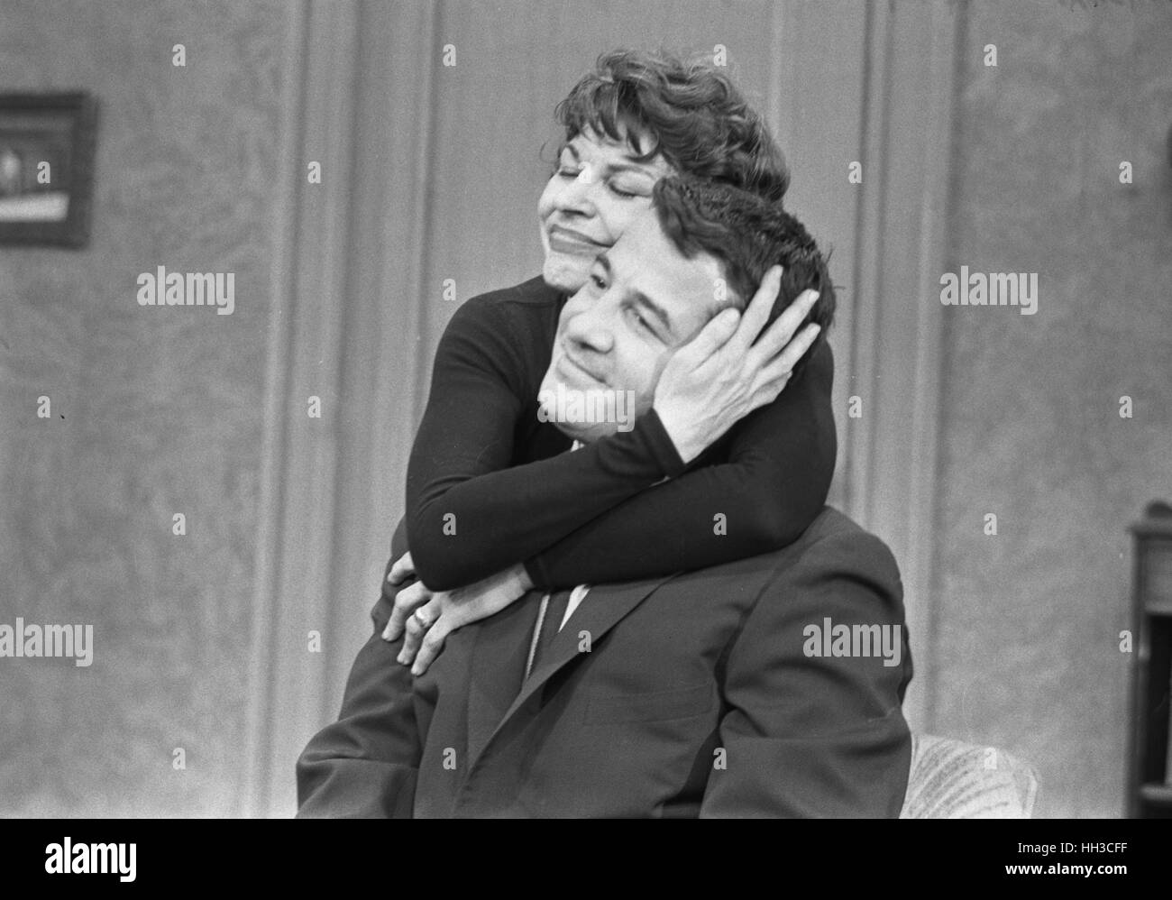 Rocky Graziano e Martha Raye Immagini Stock