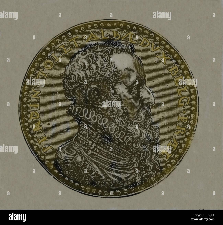 Il Granduca di Alba (1507-1582). Nobile spagnolo , diplomatico e generale. Governatore di Milano del vicerè Immagini Stock