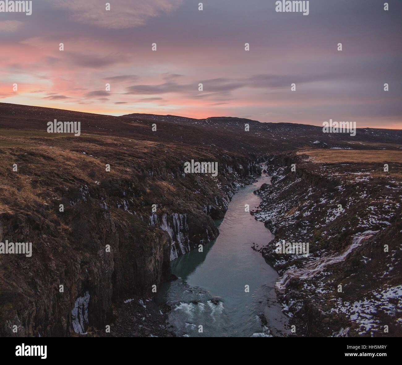 In Islanda in inverno Immagini Stock