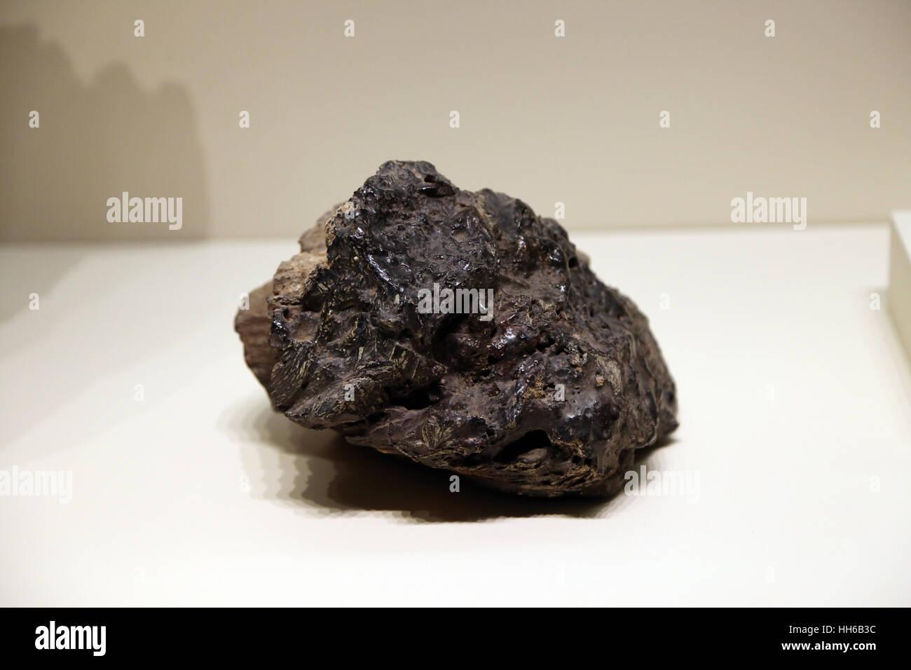 Hispania romana. Industria mineraria. Scoria. Il piombo. 1a-3rd secolo. Carthago Nova, Cartagena, Murcia, Spagna. Immagini Stock