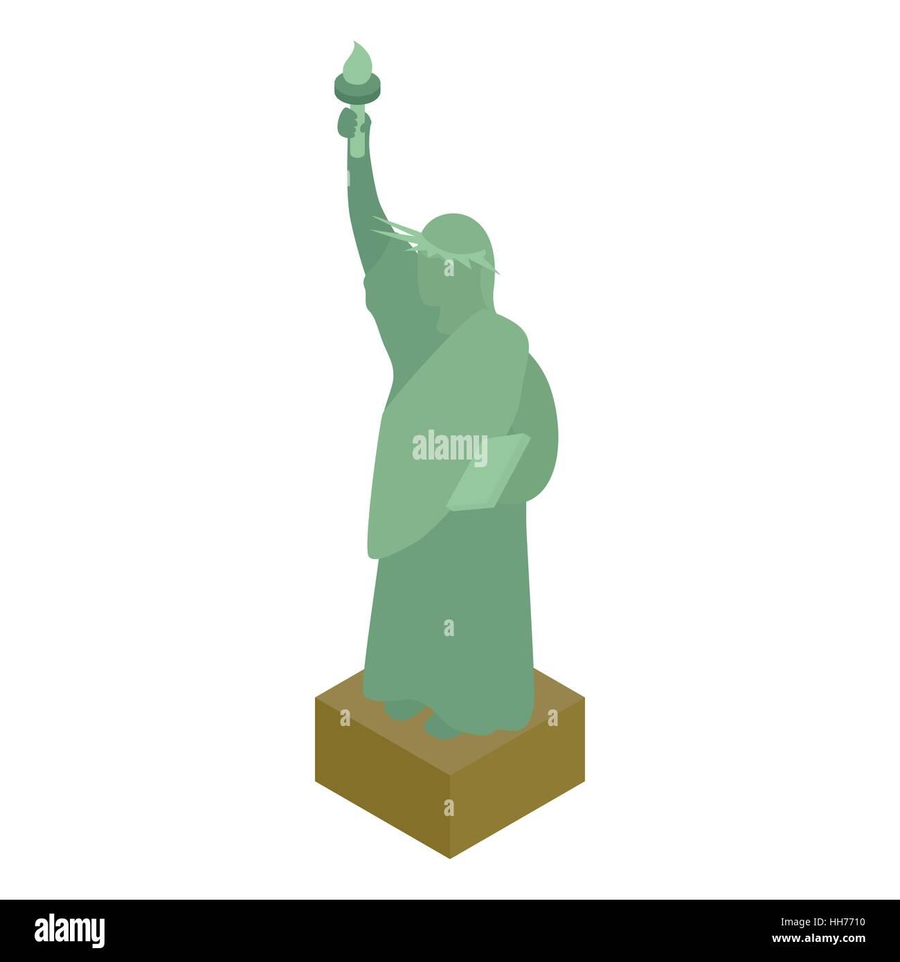 Statua della Libertà icon isometrica 3d style Immagini Stock