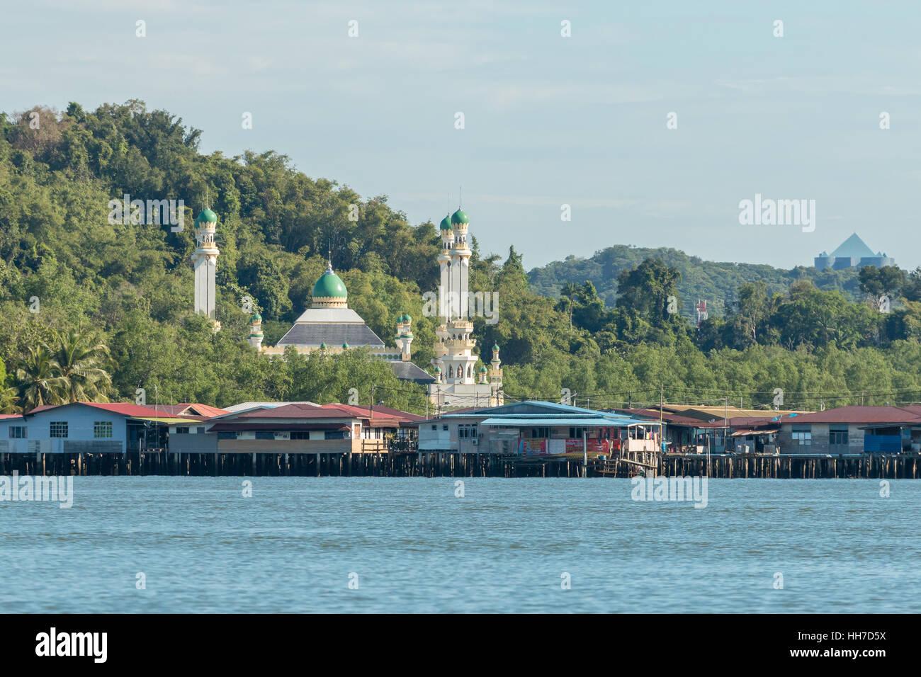 Villaggio galleggiante, Bandar Seri Begawan Immagini Stock