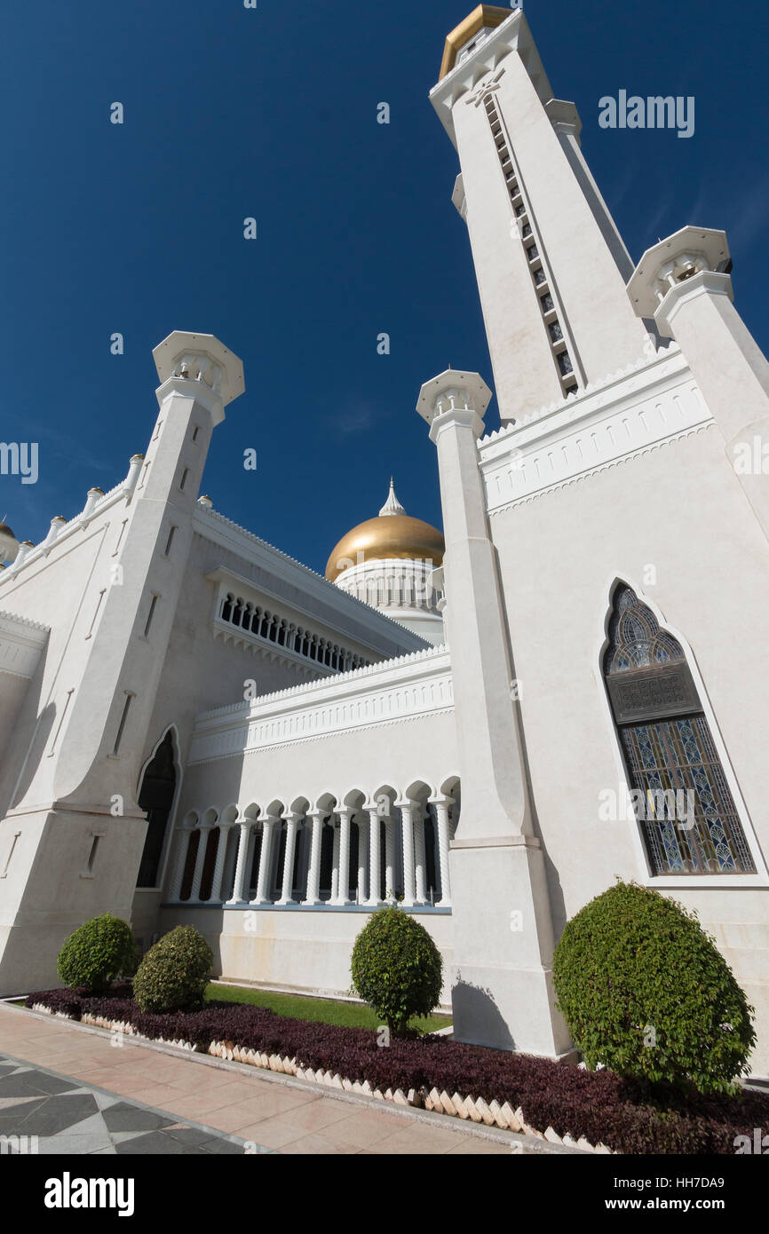 Il sultano Omar Ali Saifuddin Moschea, Bandar Seri Begawan, Brunei Immagini Stock