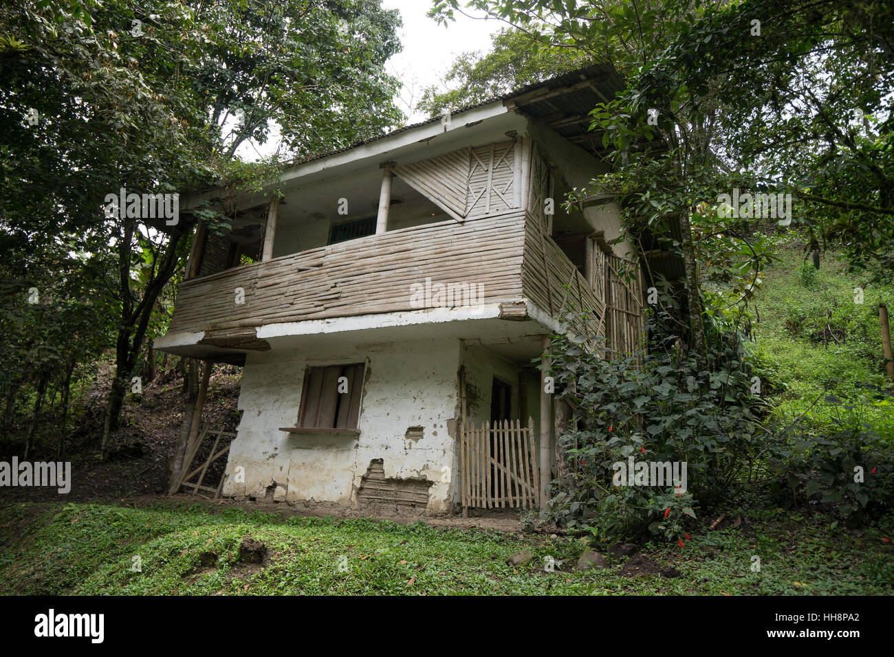 Casa abbandonata in Tierra dentro la regione della Colombia Immagini Stock