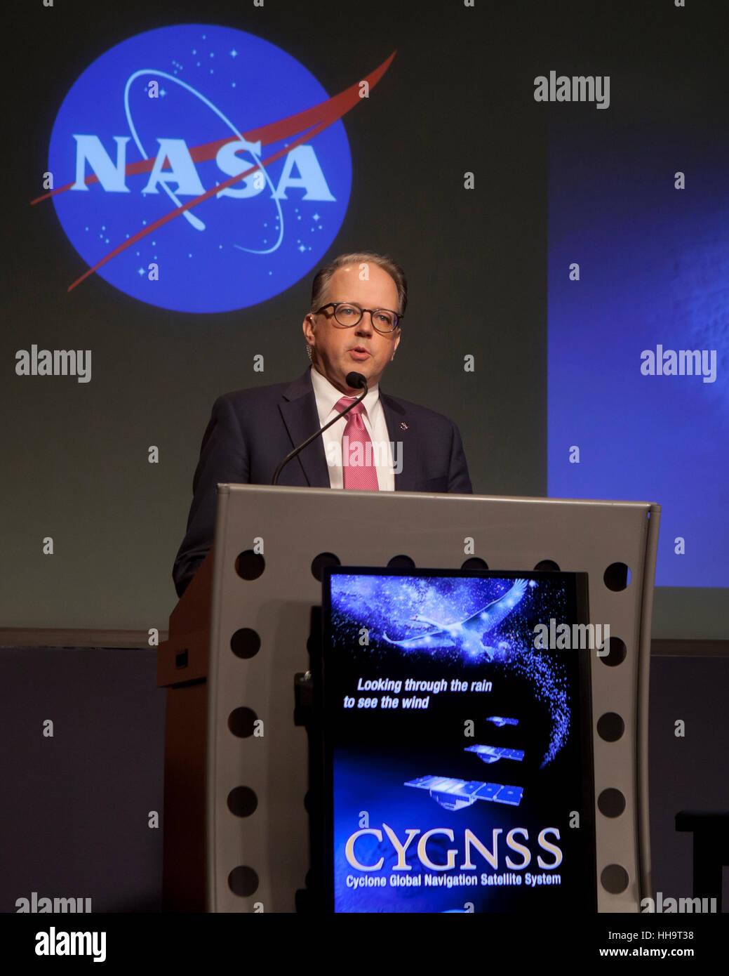 Sean Potter, relazioni con i Media specialista della NASA - Washington DC, Stati Uniti d'America Immagini Stock