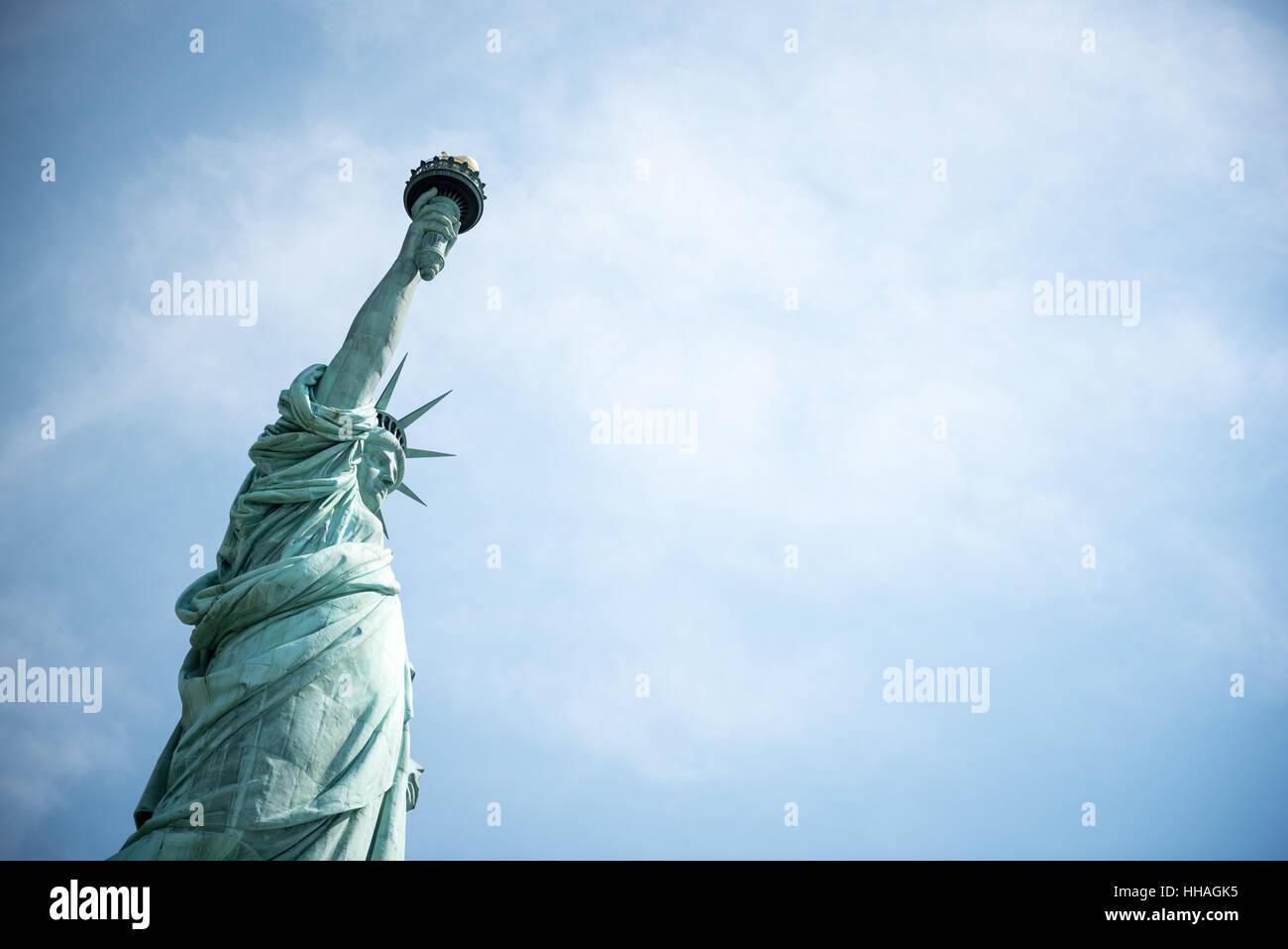 Una vista della Statua della Libertà di New York City Immagini Stock 20b47a0cad2d