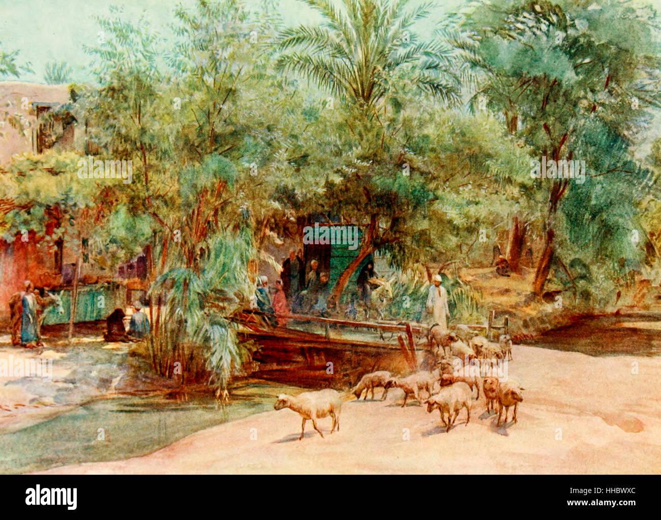 Il villaggio di Marg, Egitto, circa 1912 Immagini Stock