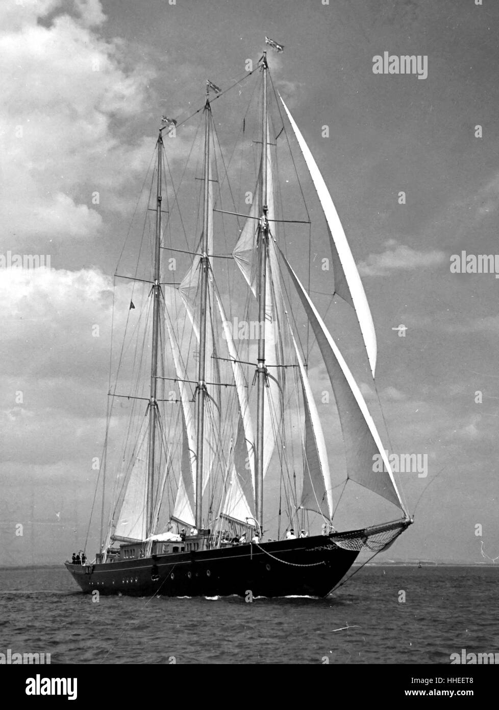 Fotografia del gruppo di racing yachts assemblata per la gara Torbay-Lisbon. In data xx secolo Immagini Stock