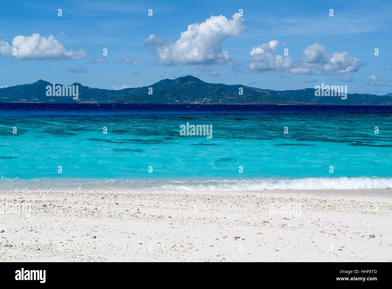 Isola vergine su Mayotte, Francia Immagini Stock