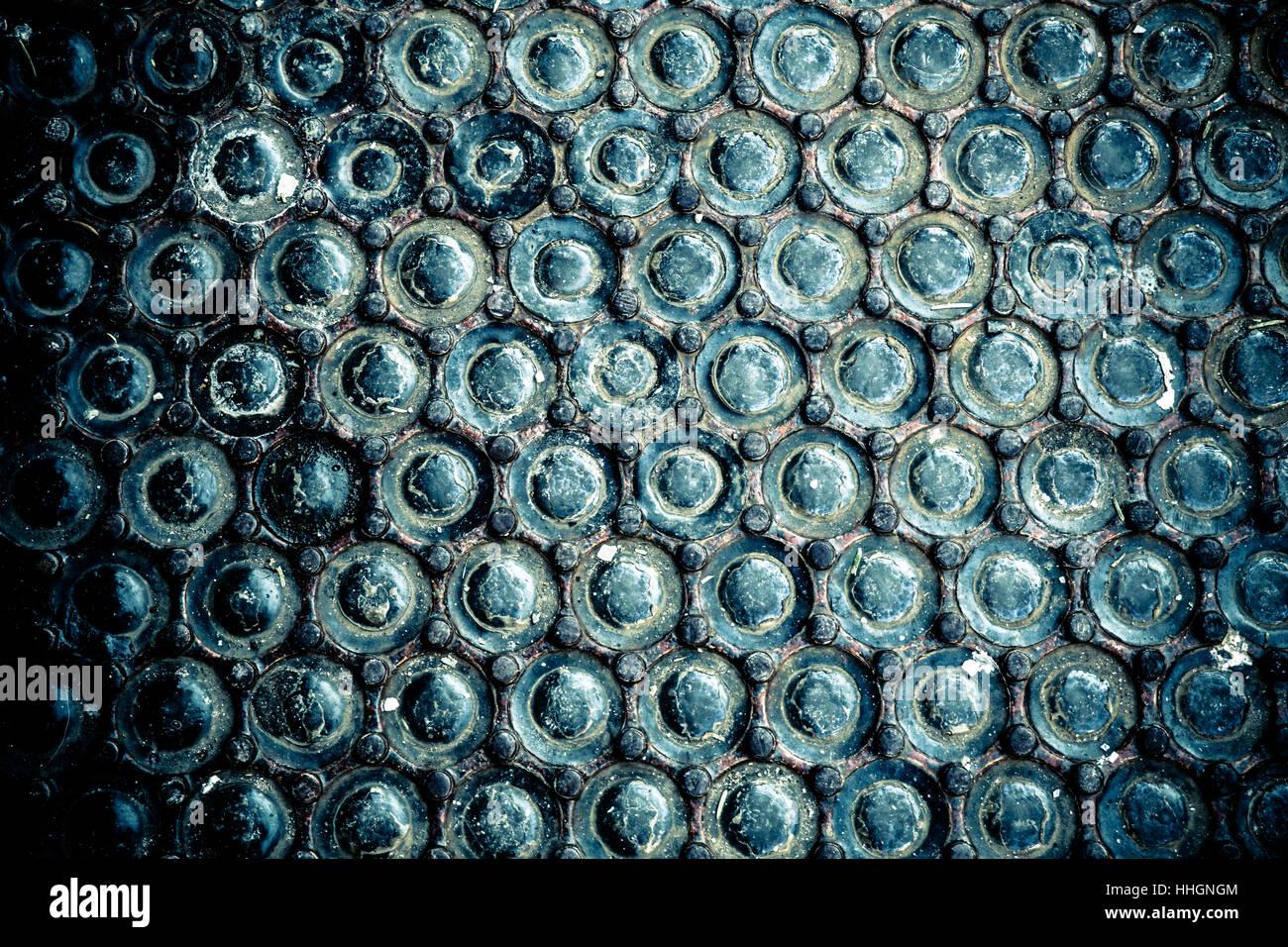 Abstract unico grunge urban texture design creato da marciapiede antichi vault il vetro della lampadina luci e ghisa Immagini Stock