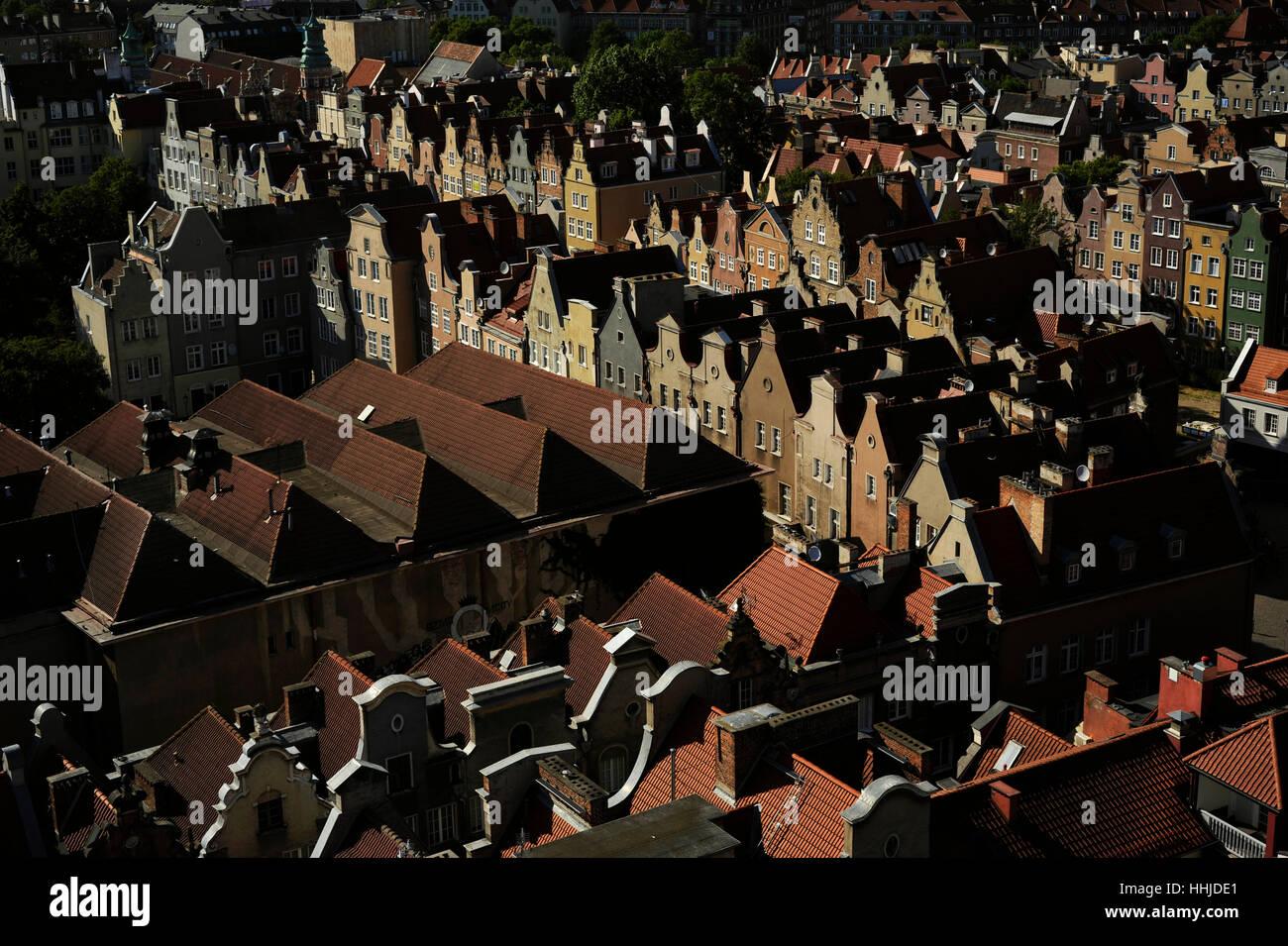 La Polonia. Gdansk. Centro storico. Immagini Stock