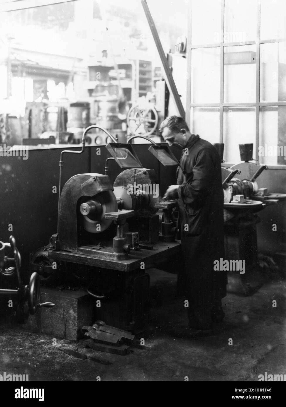 1930 - 40. Fiat - Ansaldo grande fabbrica di motori. Immagini Stock
