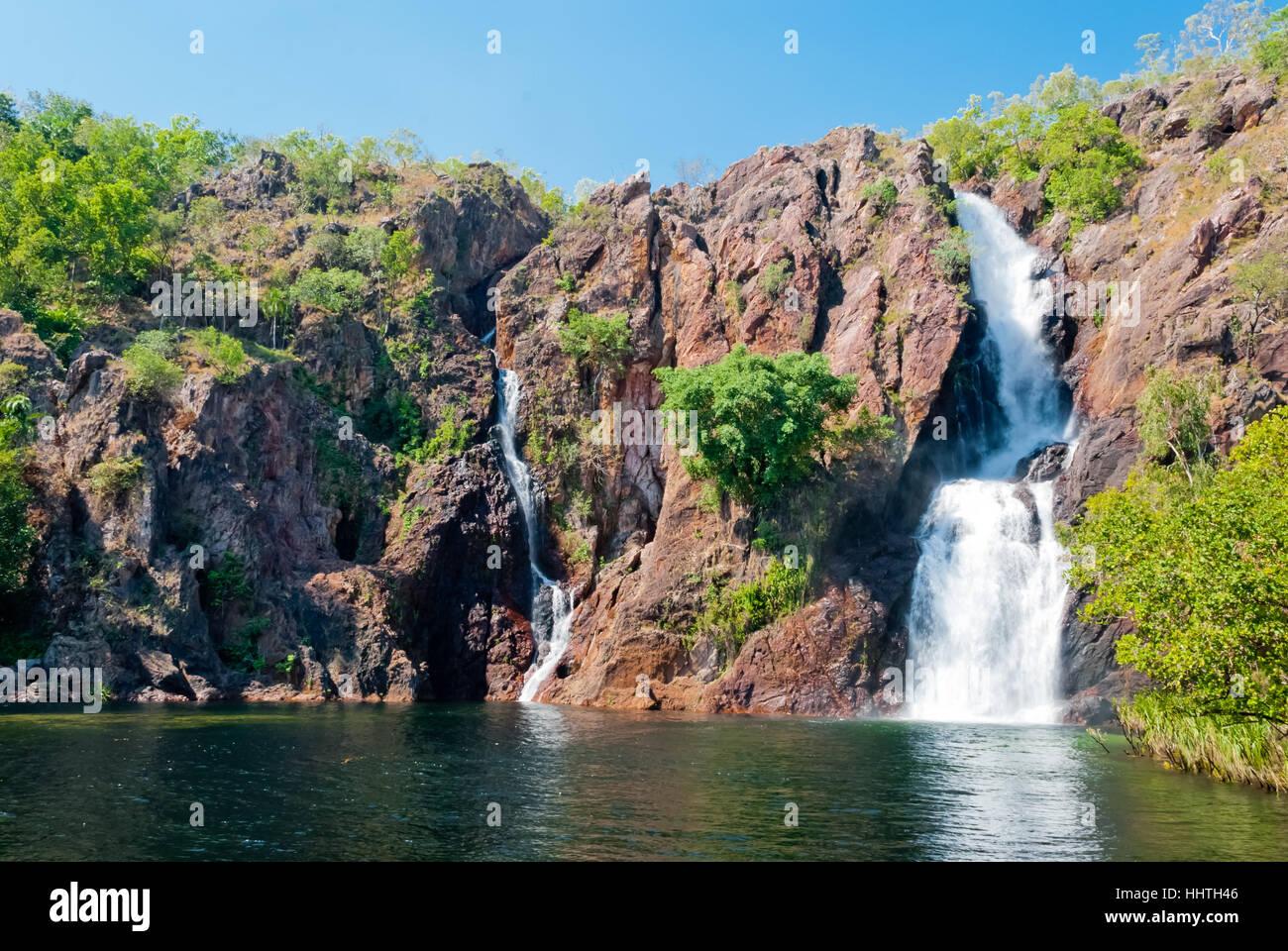 Wangi Falls, il Parco Nazionale di Litchfield, Australia Immagini Stock
