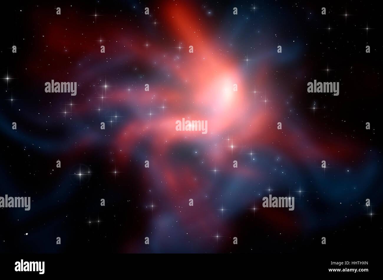 Abstract spazio esterno dello sfondo con stelle, nebulosa galassia nel cielo notturno, concetto di astronomia Immagini Stock