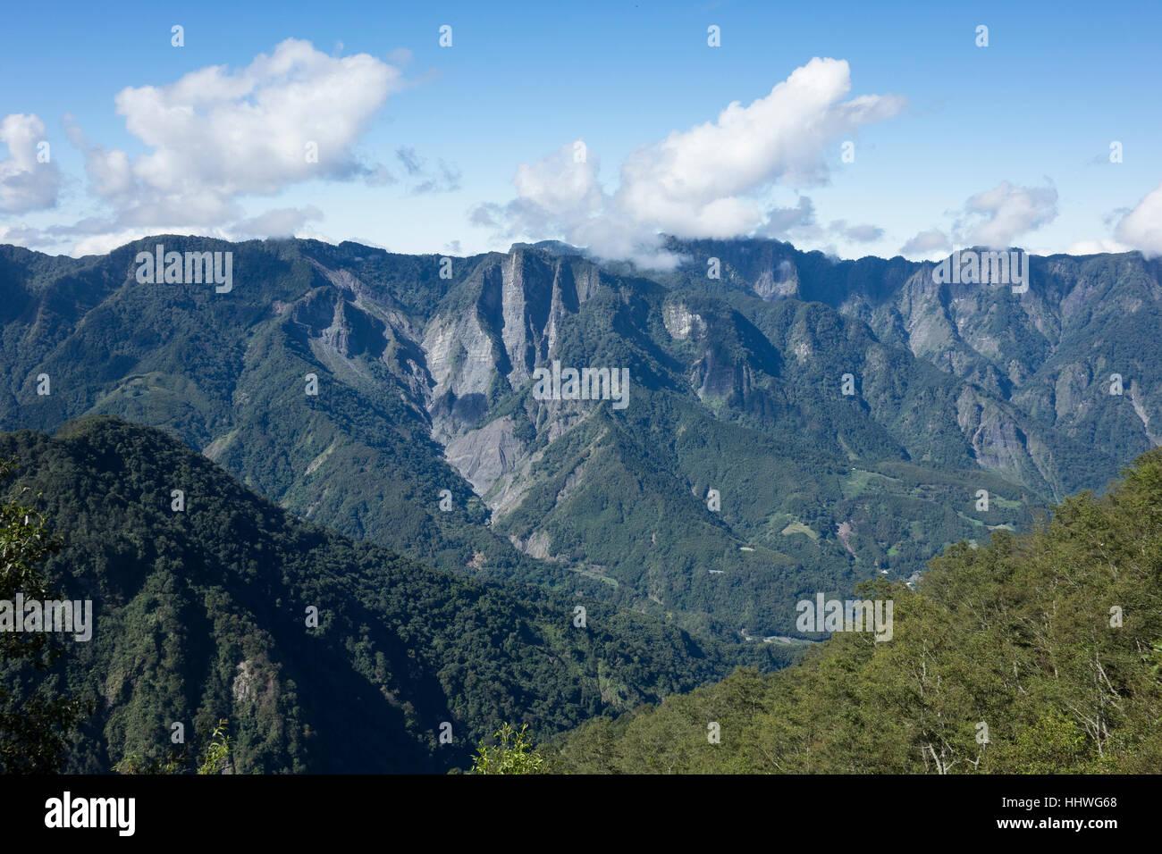 Taiwan, Yushan montagne, Immagini Stock