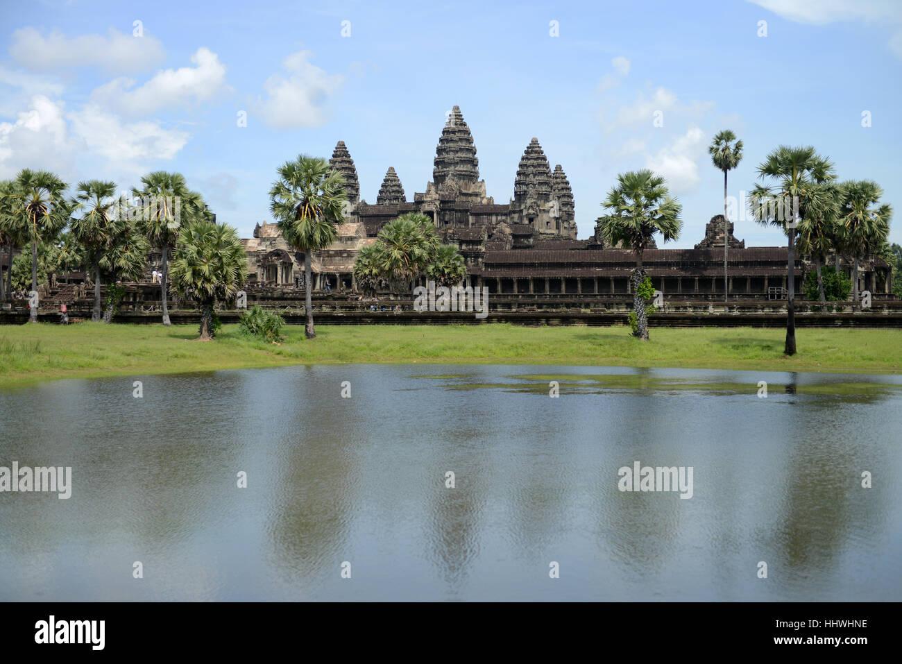 Angkor Wat, Siem Reap, Cambogia, sud-est asiatico. Immagini Stock