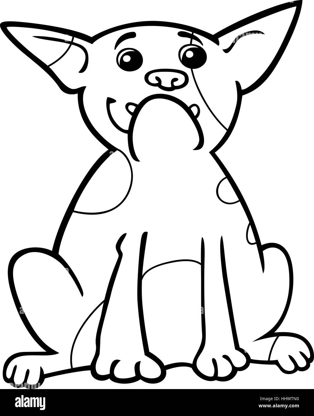 Illustrazione Del Fumetto Di Divertenti Di Razza Bulldog Francese