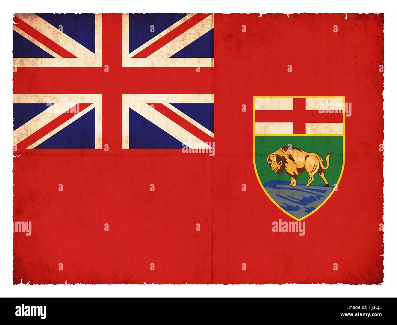Bandiera grunge manitoba (provincia canadese) Foto Stock