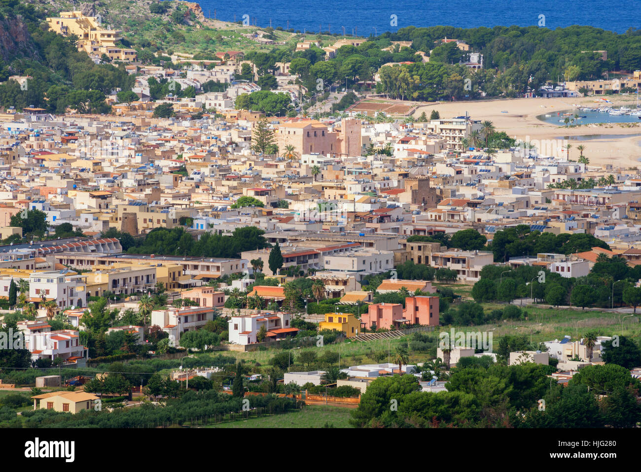 Veduta di San Vito lo Capo, Sicilia, Italia Immagini Stock