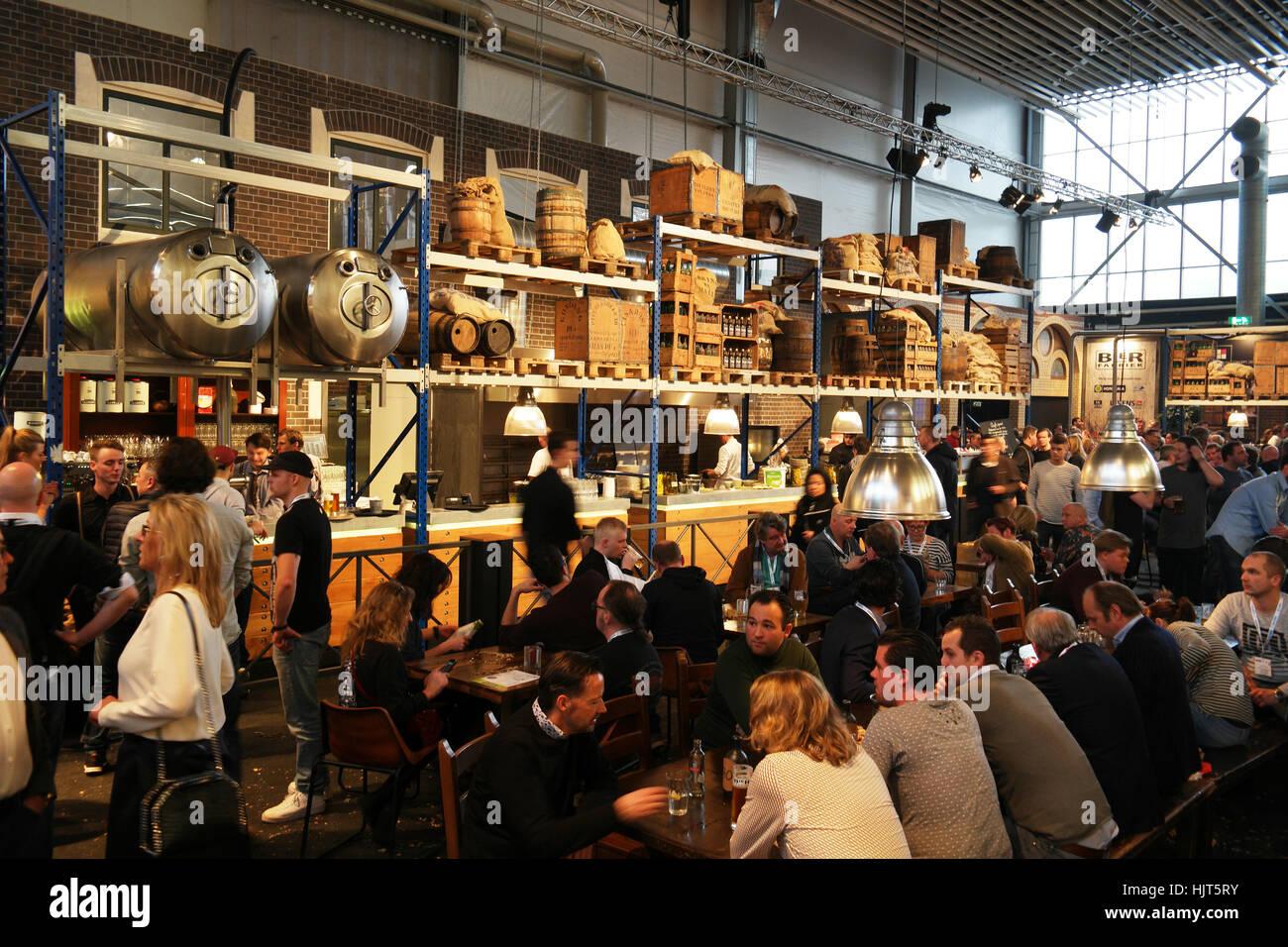 De Bierfabriek su Amsterdam Horecava annuale ospitalità fiera. Immagini Stock