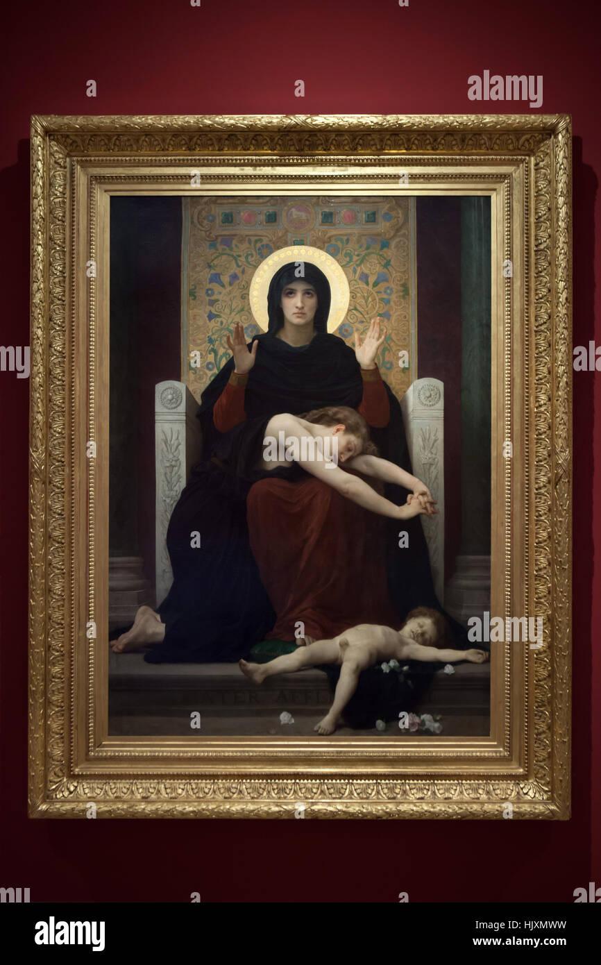 Dipinto della Madonna della Consolazione (1877) dal francese pittore accademico William-Adolphe Bouguereau sul display Foto Stock