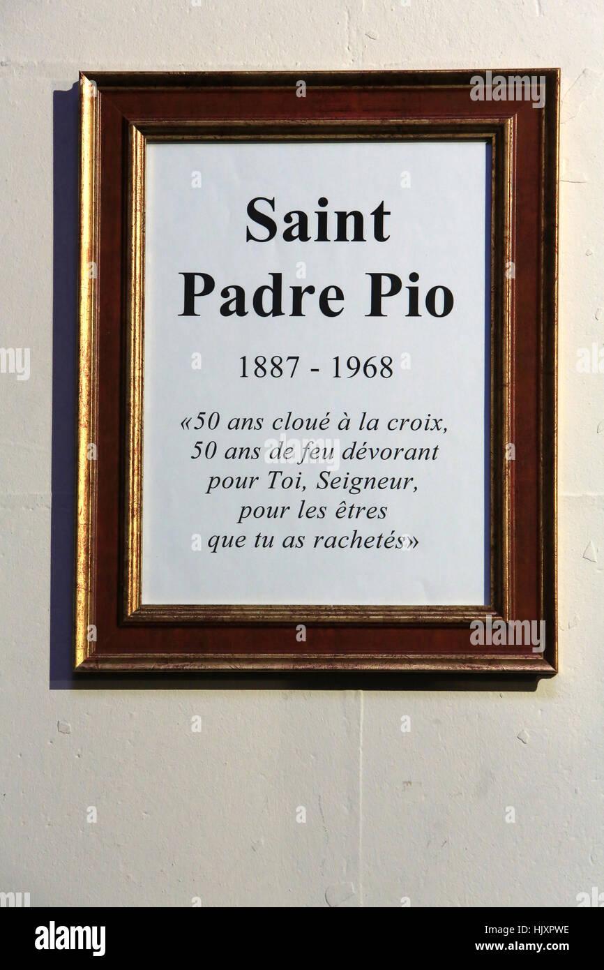 Saint-Padre Pio. 1887-1968. Immagini Stock