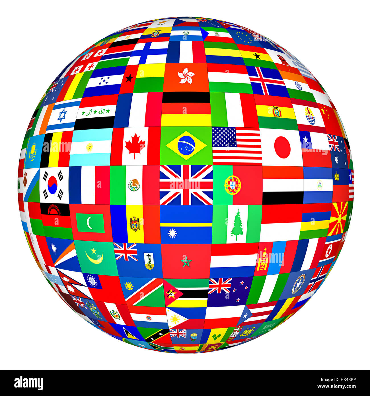 Bandiera Paesipaeseglobepianetaterramondonazionesfera Foto