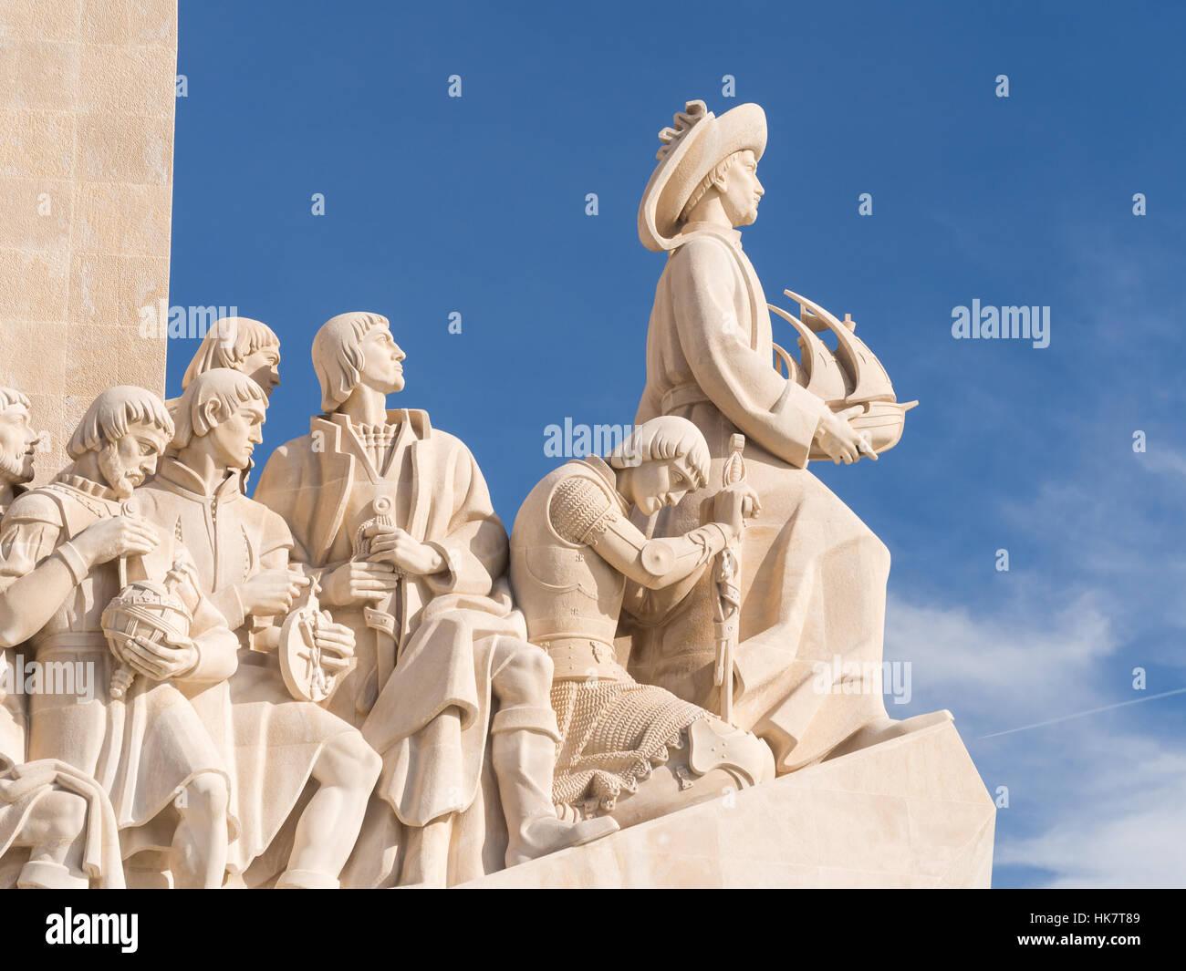Un monumento alle scoperte del Nuovo Mondo in Belem, Lisbona, Portogallo. Immagini Stock