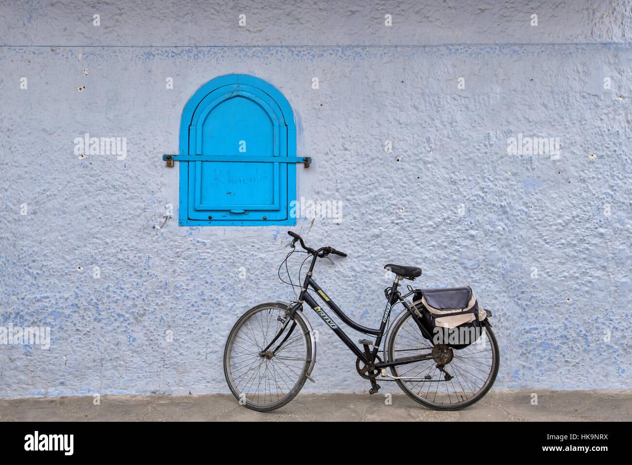 Chefchaouen città blu del nord del Marocco Foto Stock