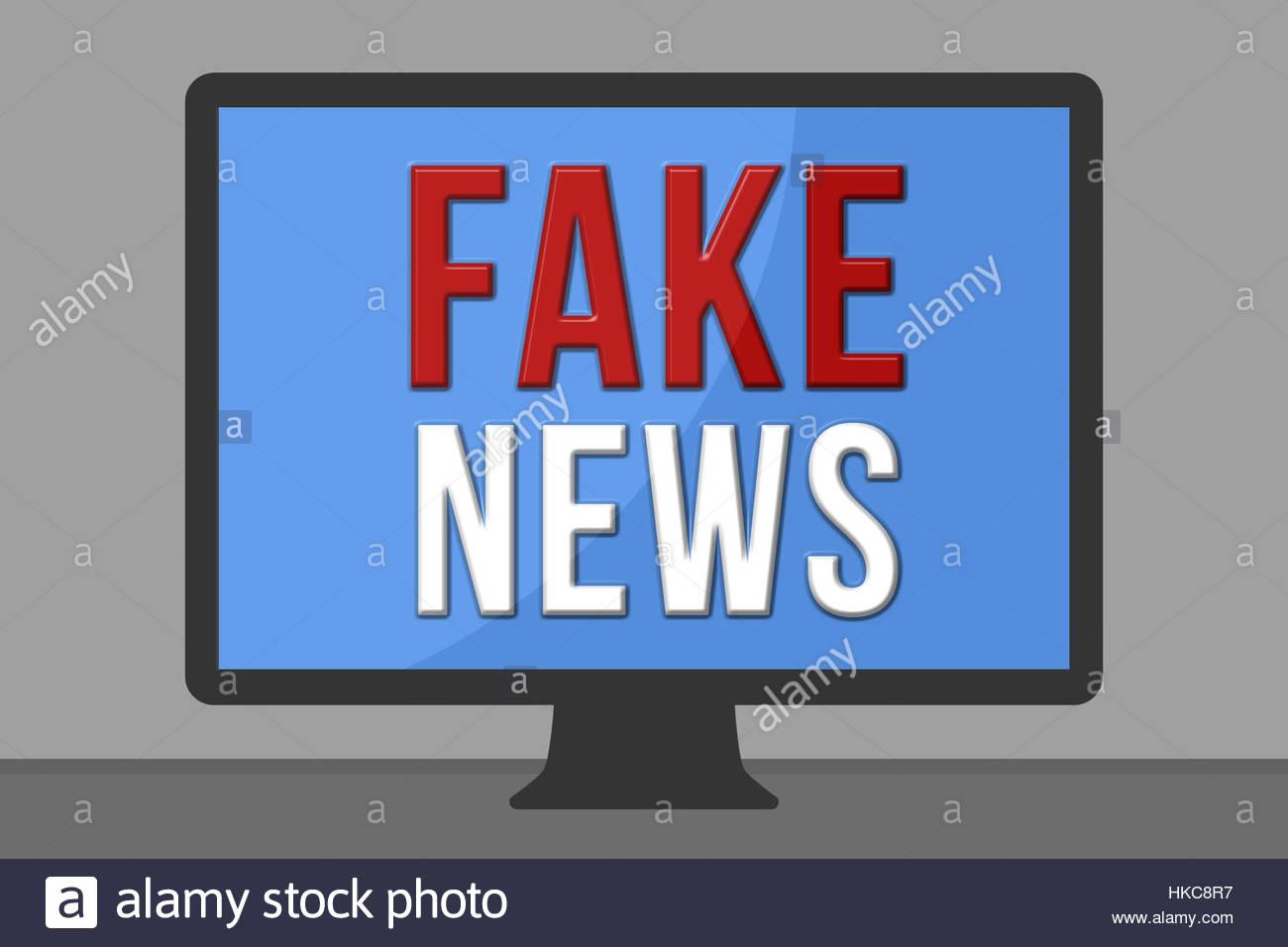 Notizie false Immagini Stock