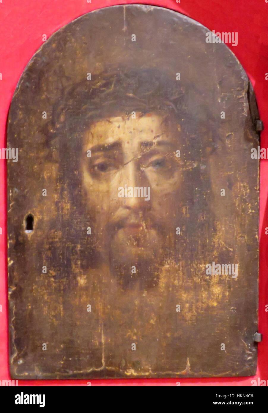 """""""Cristo"""", anonimo messicano la pittura ad olio su tela su legno, XVIII secolo, El Paso Museum of Art Immagini Stock"""