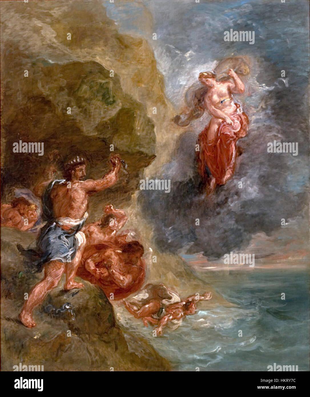 Delacroix - o inverno 02 Immagini Stock