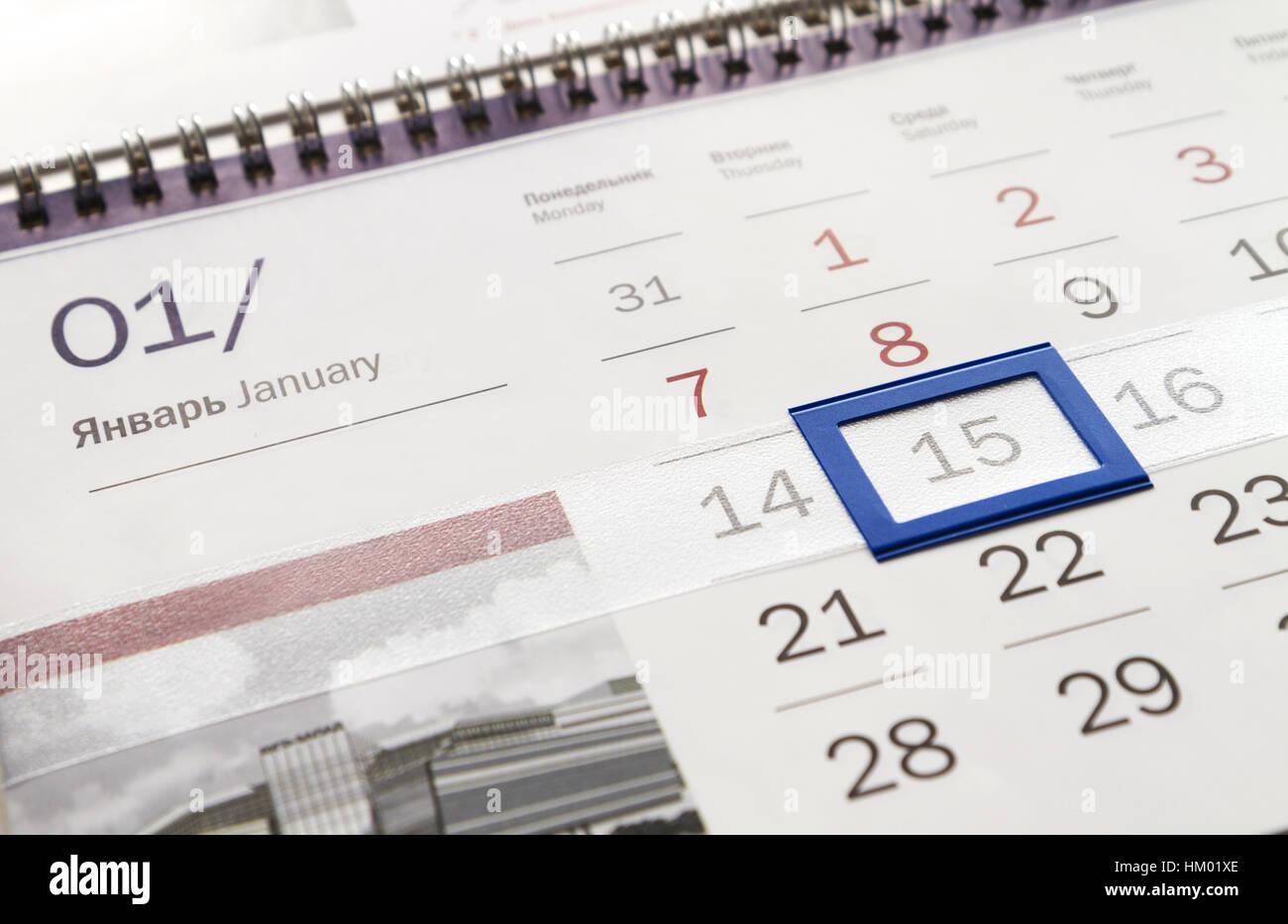 Calendario Trimestrali.Corporate Calendario Trimestrale Close Up Con Marcata Data