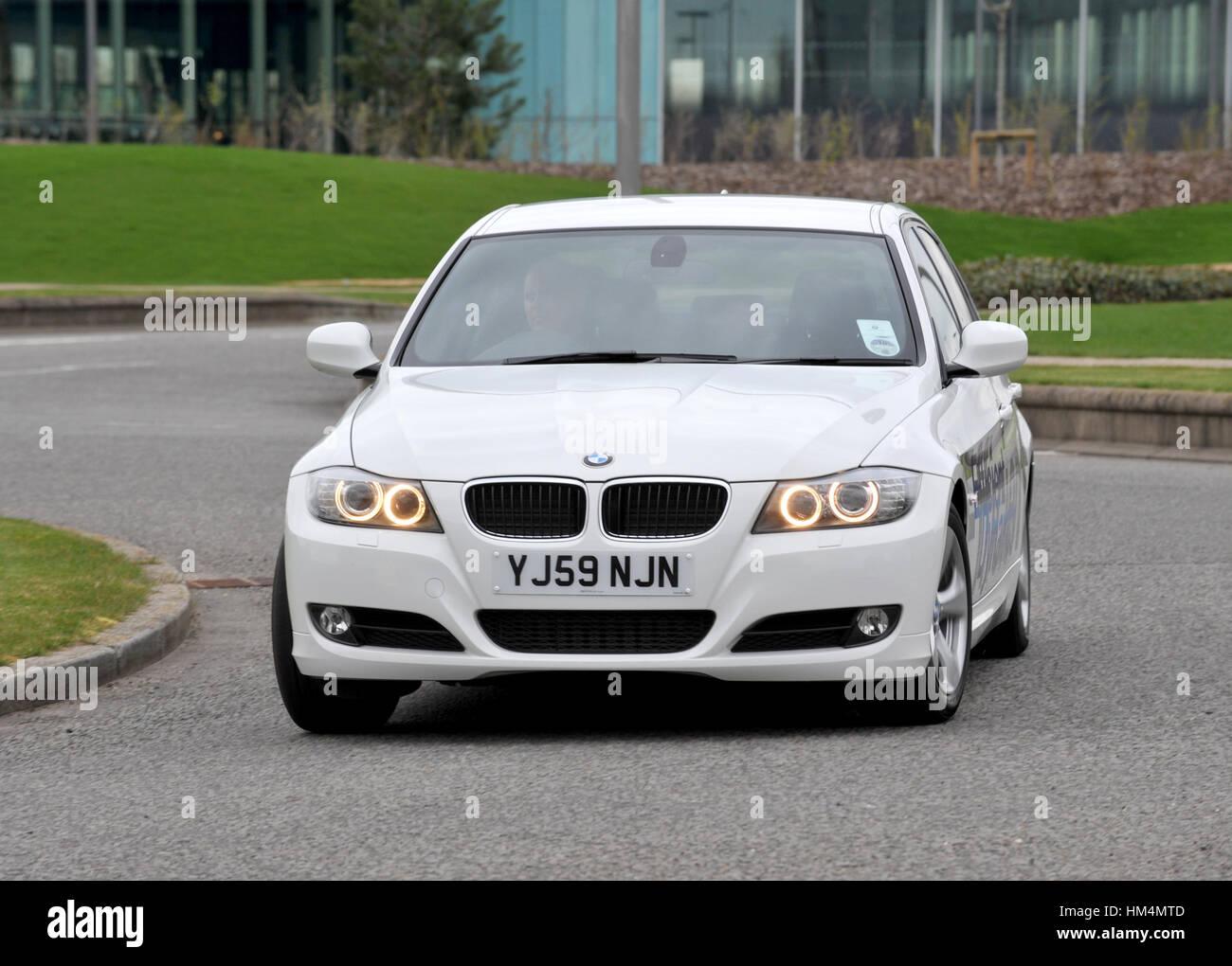 2010 BMW 320d efficiente ad alta dinamica MPG diesel premium berlina Immagini Stock