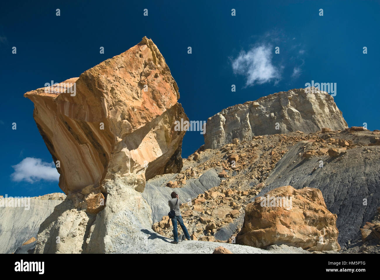 Nipplo massiccio del banco a scala-escalante monumento nat da Smoky Mountain Road vicino al lago Powell, Glen Canyon Immagini Stock
