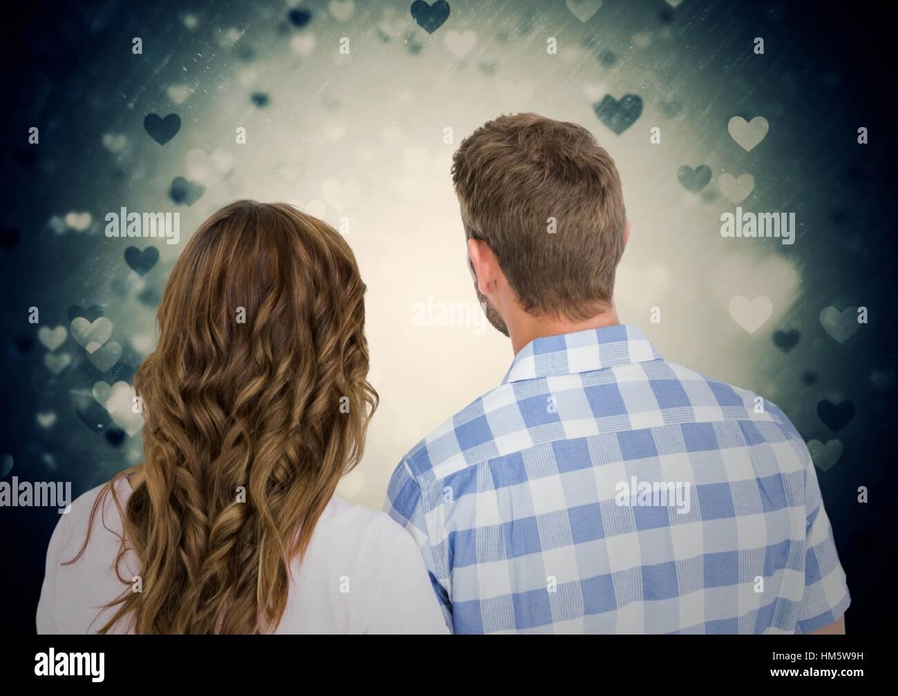 Specchietto di coppia romantica Immagini Stock