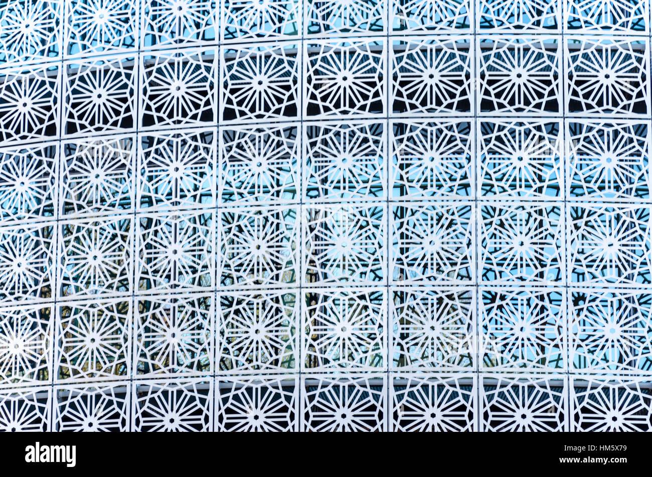 Dettaglio del design presso l' ambasciata del Regno di Arabia Saudita in Germania, Tiergartenstrasse, Berlino, Immagini Stock