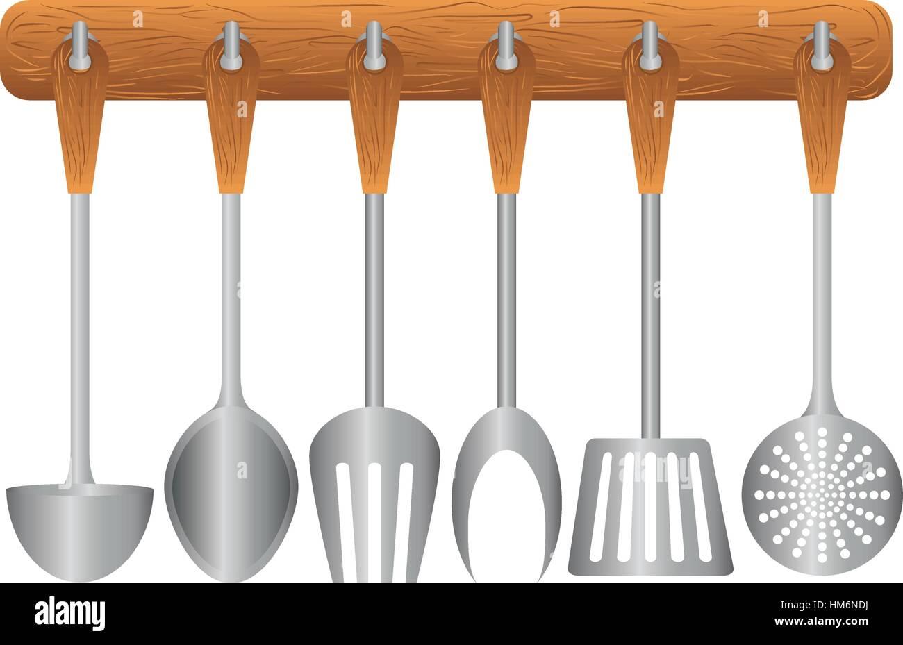 Rack colorati utensili da cucina design icona, illustrazione ...