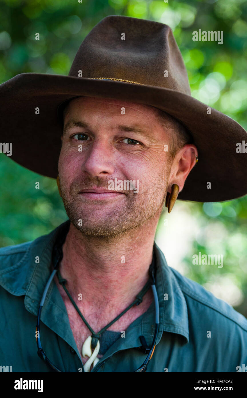 Un parco nazionale ranger in un Episteme Slouch cappello. Immagini Stock