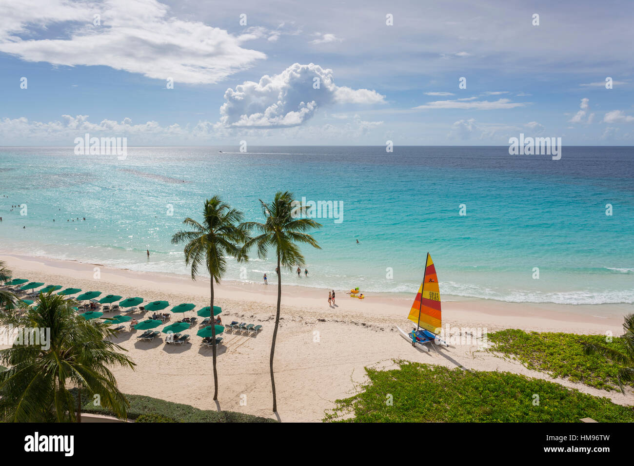 Worthing Beach, Christ Church, Barbados, West Indies, dei Caraibi e America centrale Immagini Stock