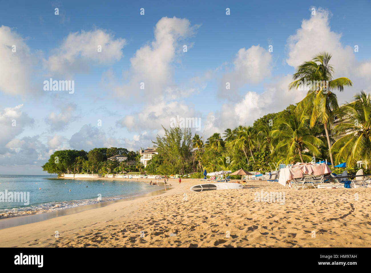 Smugglers Cove Beach, Holetown, St. James, Barbados, West Indies, dei Caraibi e America centrale Immagini Stock