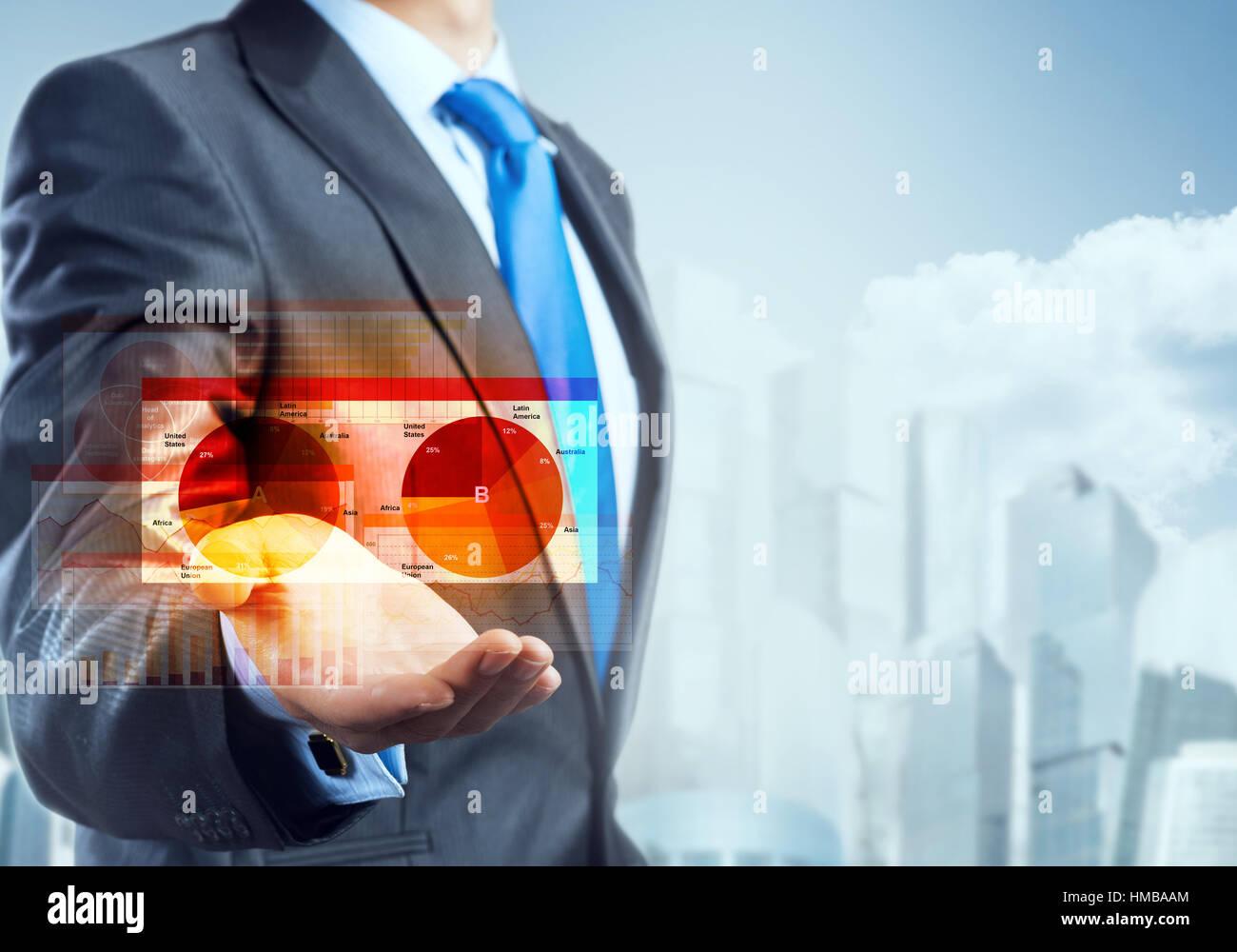 Tecnologie innovative per il business Immagini Stock
